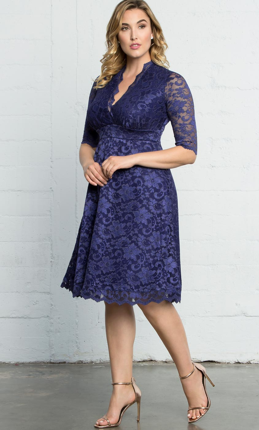 Mademoiselle Lace Dress | Plus Size A Line Midi Dress