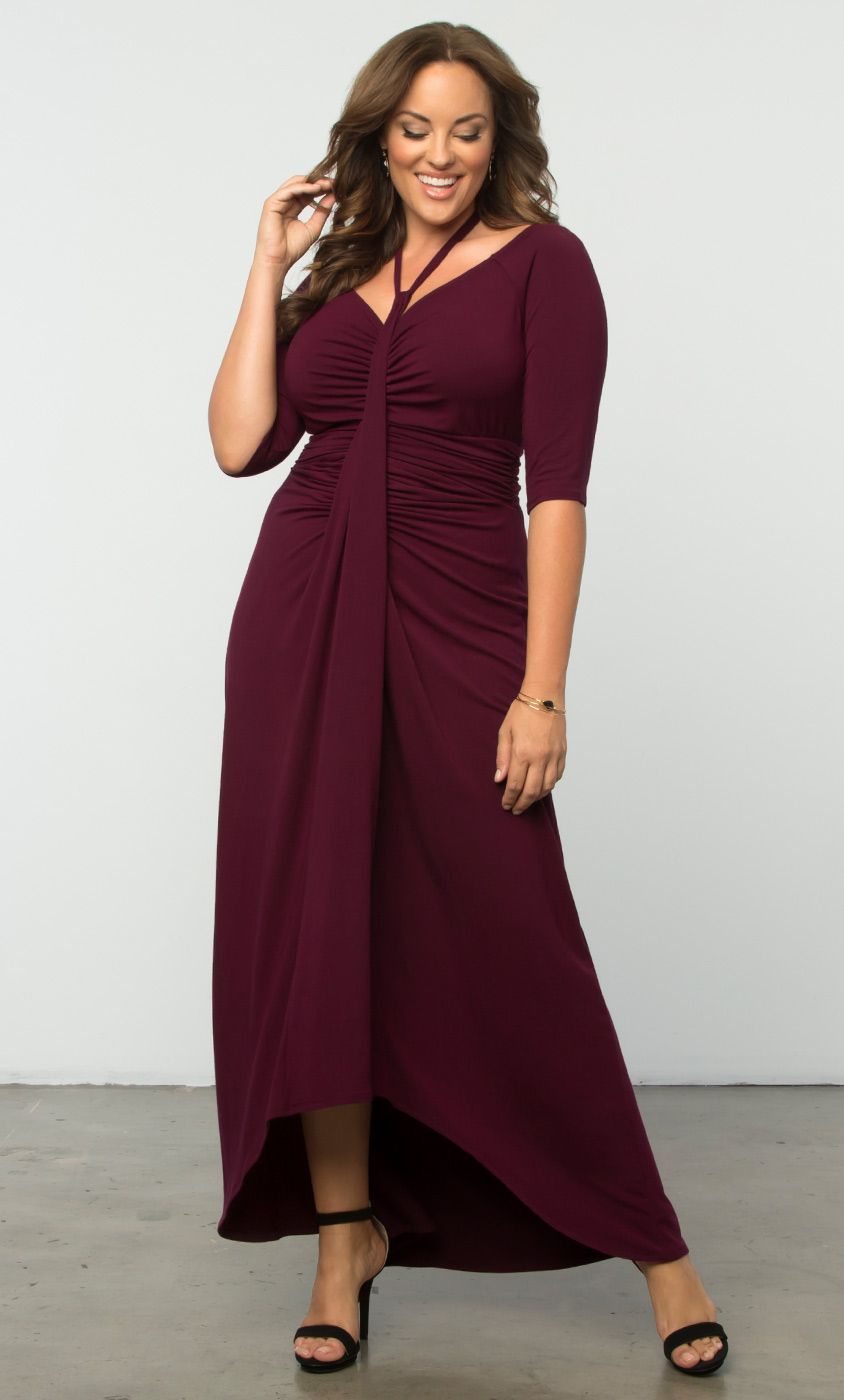 Divine Draped Maxi Dress Sale Kiyonna Clothing