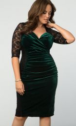 Hourglass Lace Dress, Garden Estate (Women's Plus Size)