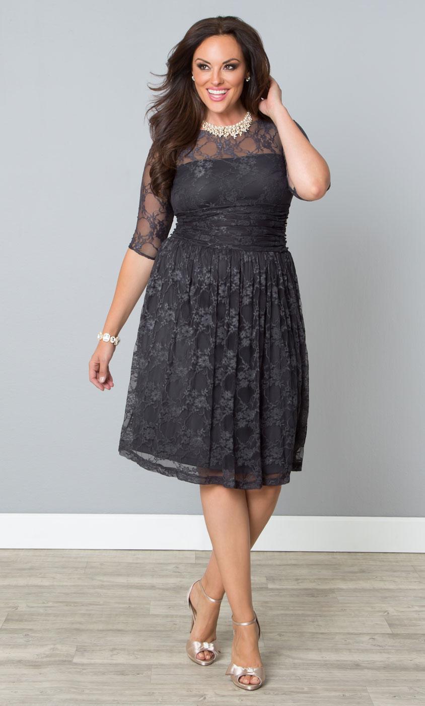 Plus Size Vintage Lace Dress | Kiyonna Lace Dress - photo #43