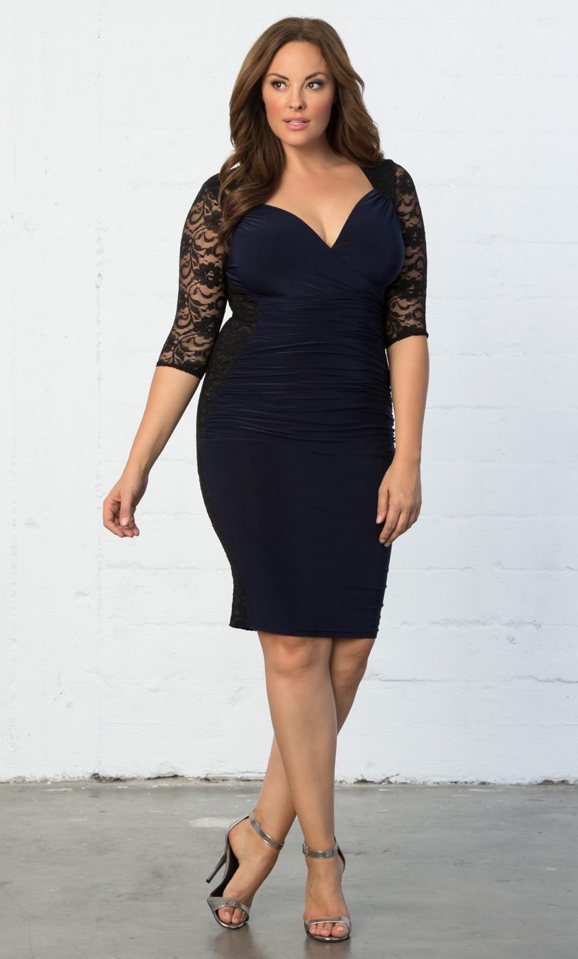 Little Black Party Dresses for Plus Size Women