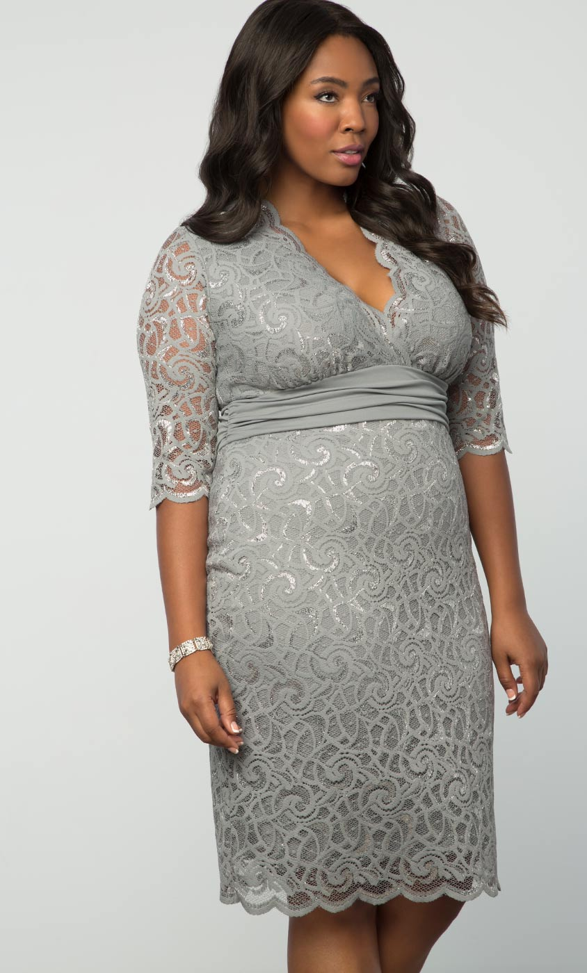 Plus Size Cocktail Dress | Lumiere Lace Dress