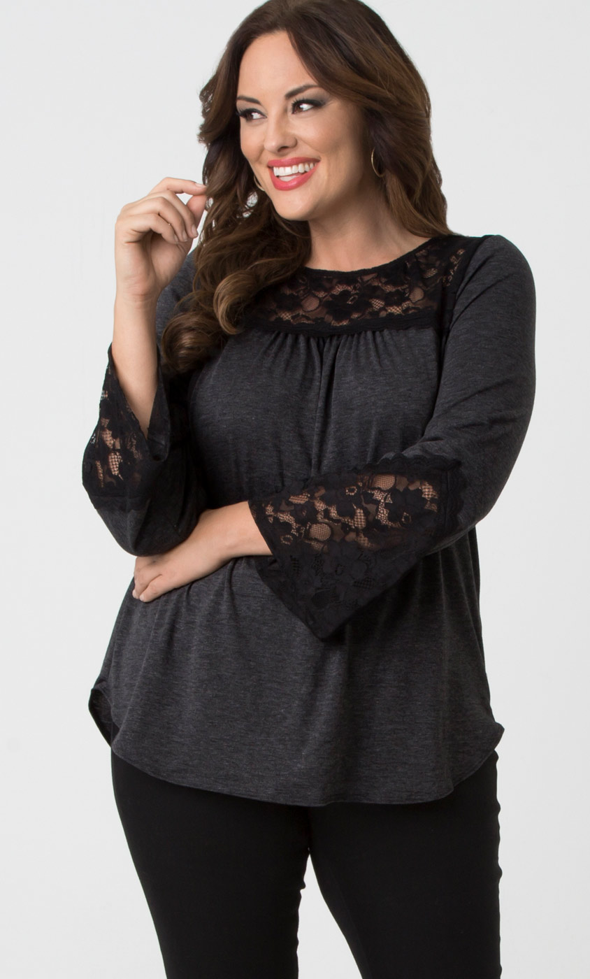 womens plus size tops and blouses| kiyonna clothing