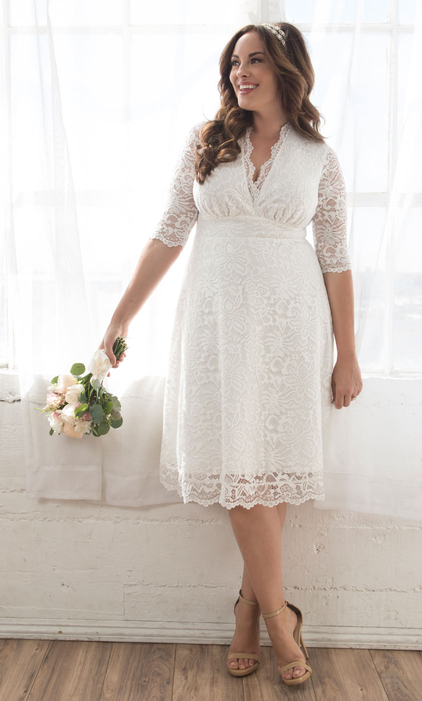 Plus Size Lace Wedding Dress