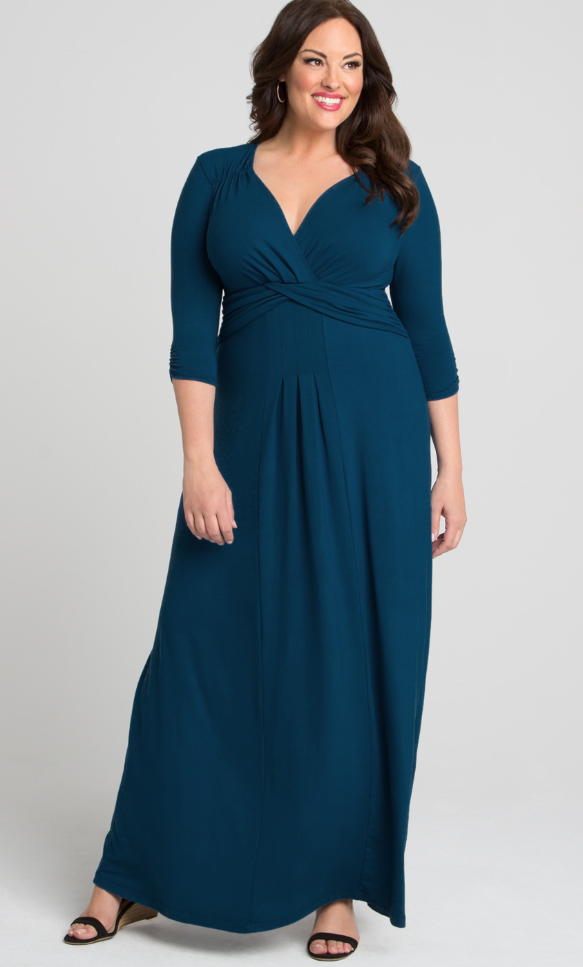 Desert Rain Maxi Dress Plus Size Jersey Maxi Dress