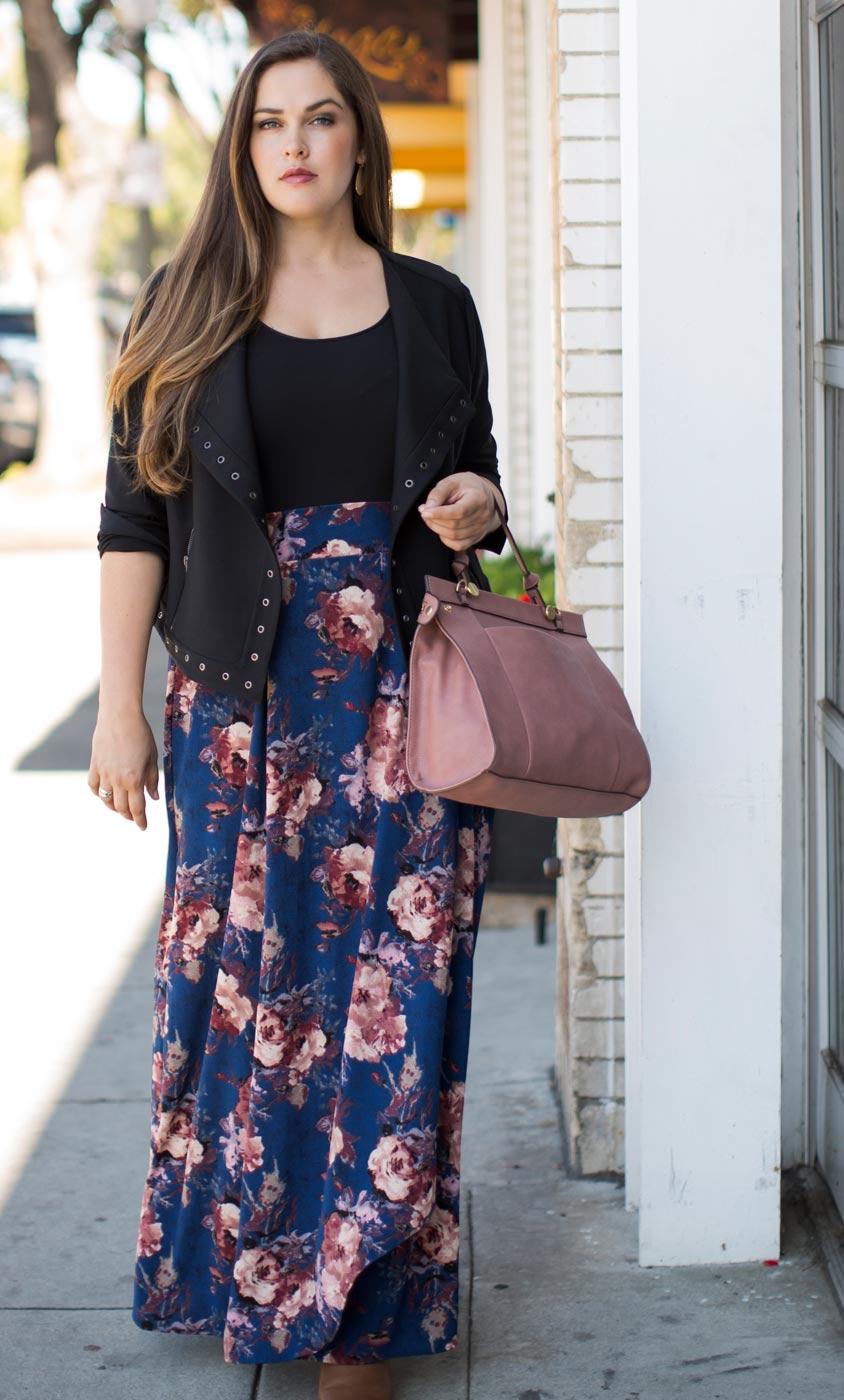Plus Size Skirts Celine Chiffon Maxi Skirt