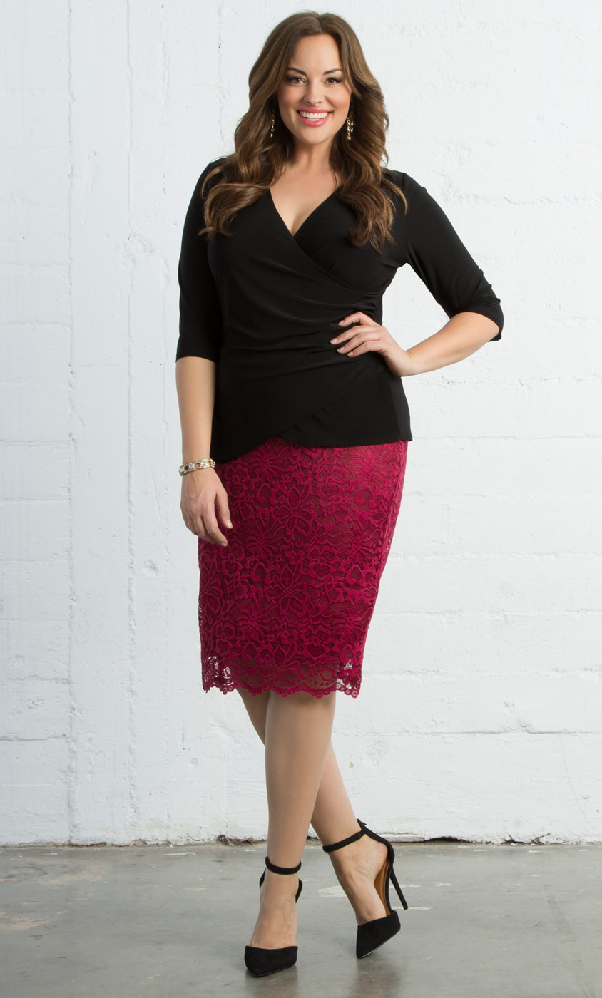 Plus Size Skirts & Bottoms | Kiyonna Clothing for Women