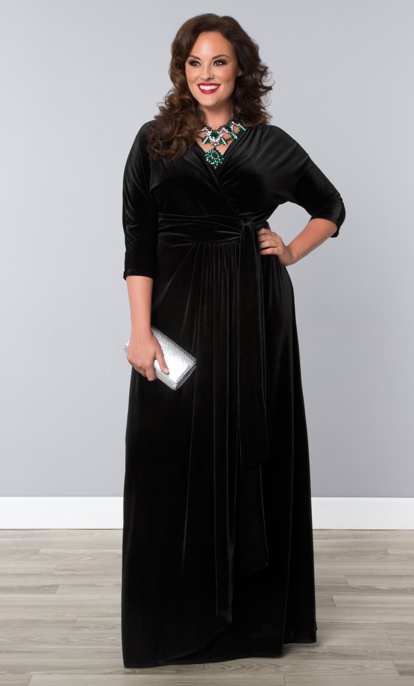 Plus Size Velvet Evening Gown | Kiyonna's Plus Size Gowns - photo #21