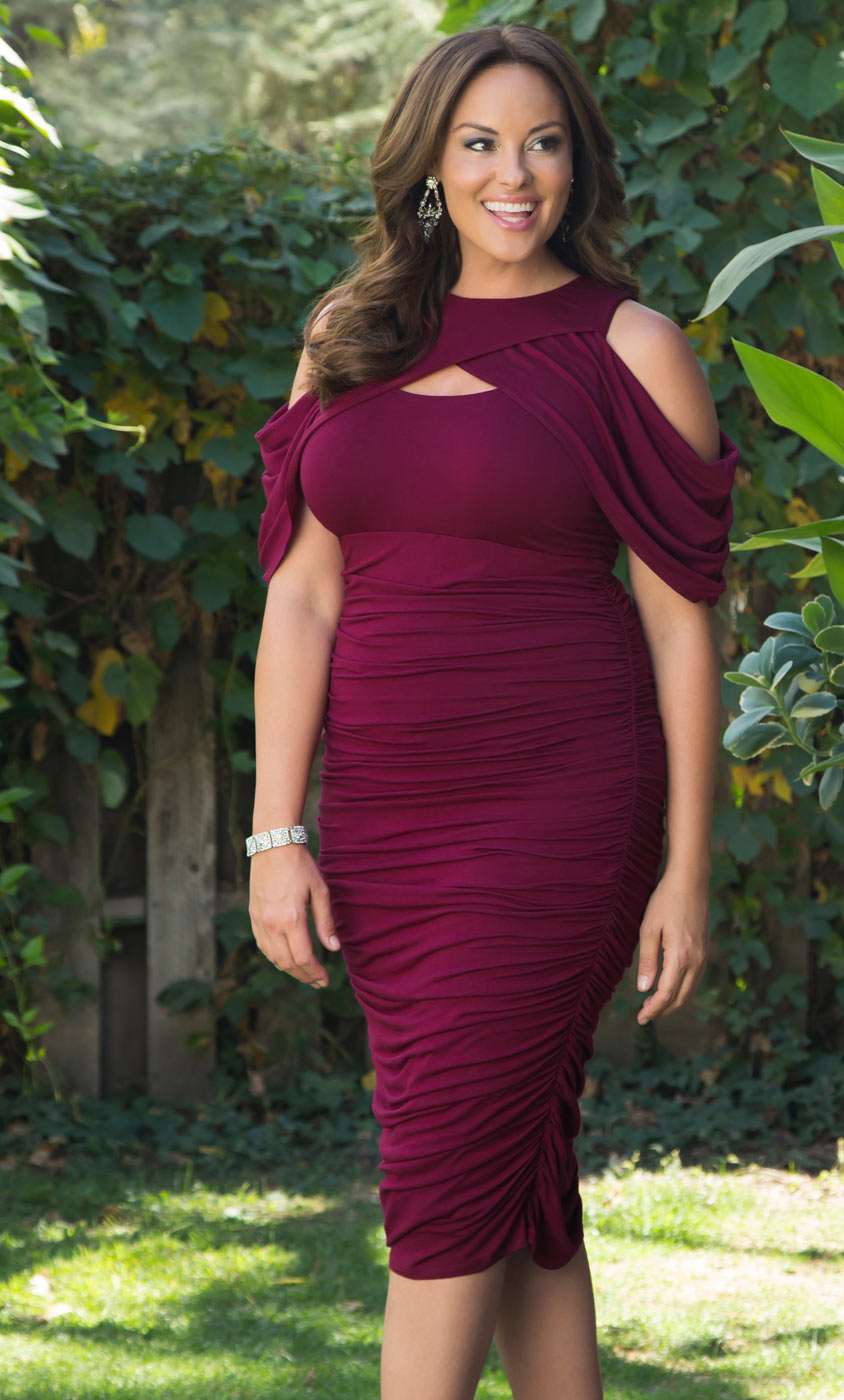 Bianca Ruched Dress Kiyonna Clothing