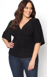 kiyonna,Kiyonna Womens Plus Size Caycee Twist Top