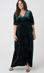 Cambria Velvet Maxi Dress, Garden State (Women's Plus Size)  #MADEINTHEUSA