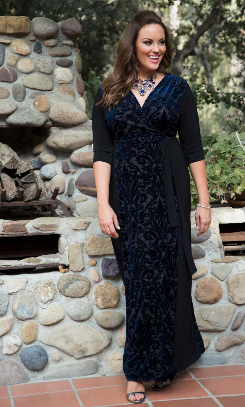 Ornate Velvet Maxi Dress