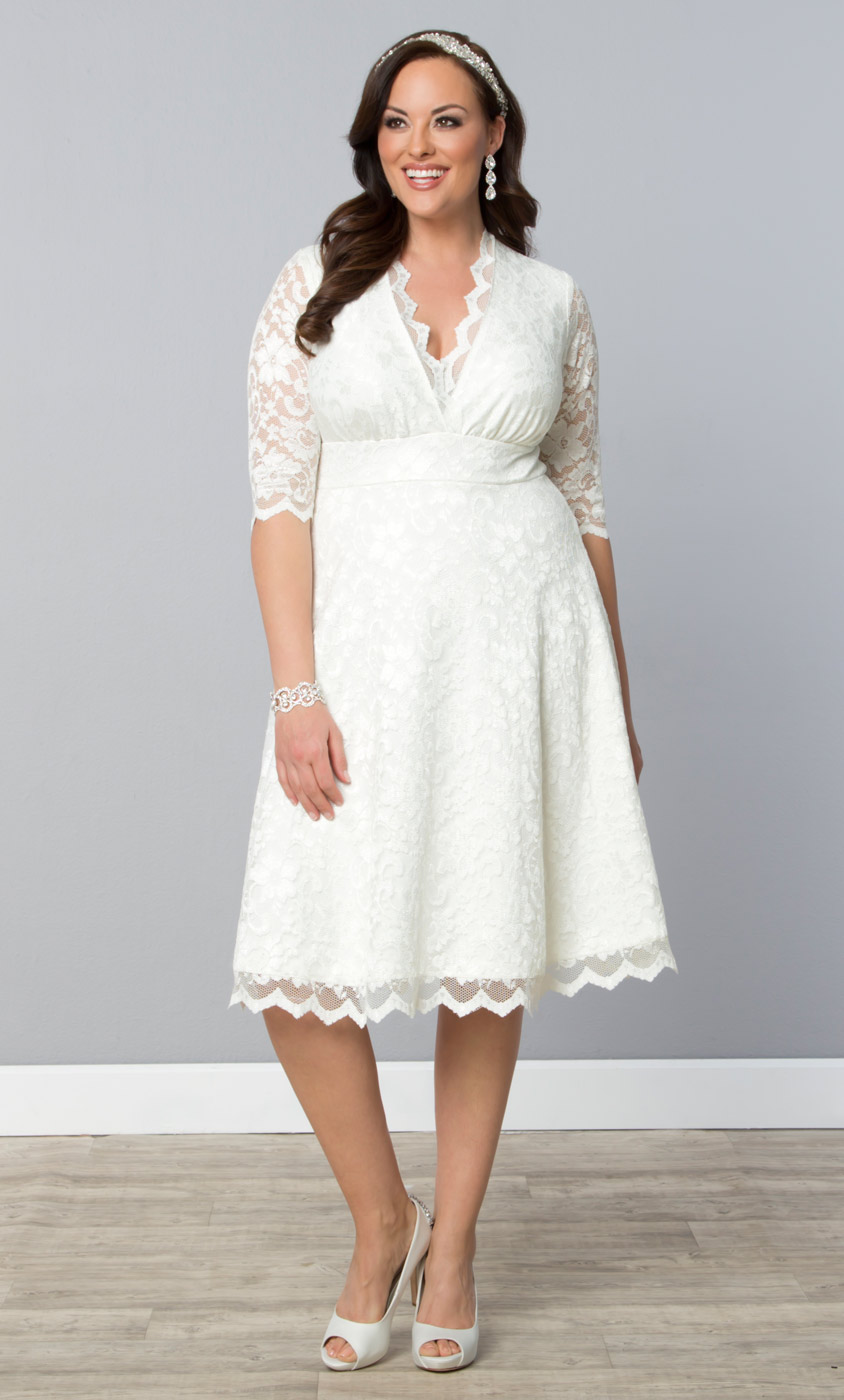 Wedding belle dress kiyonna clothing for Shirt dress wedding gown