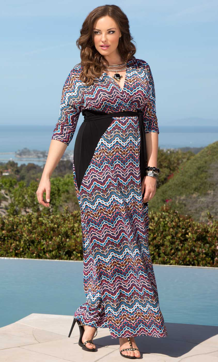 Moroccan Maxi Wrap Dress-Sale