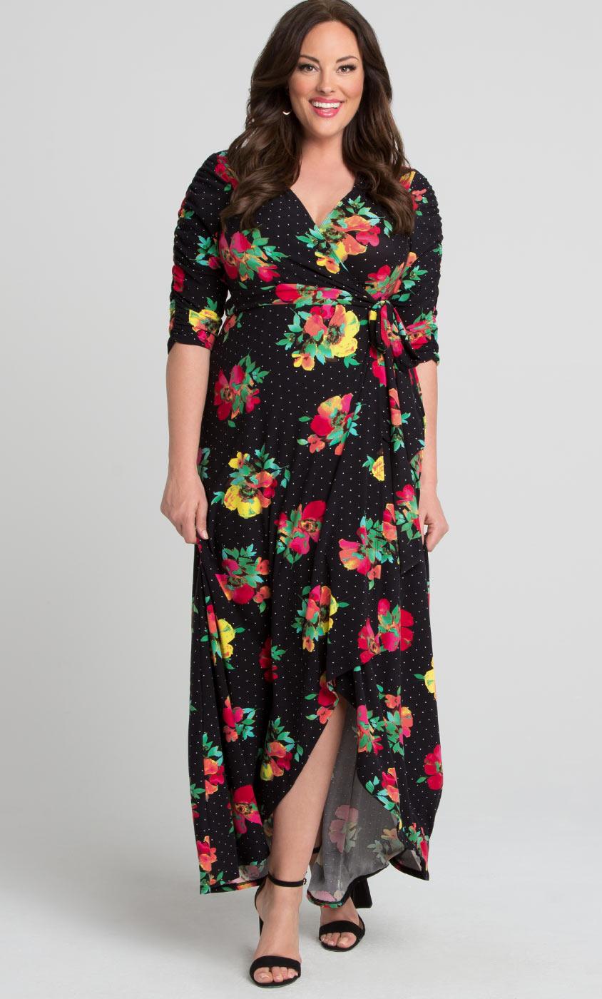 Meadow Maxi Dress Plus Size Floral Maxi Dress Kiyonna