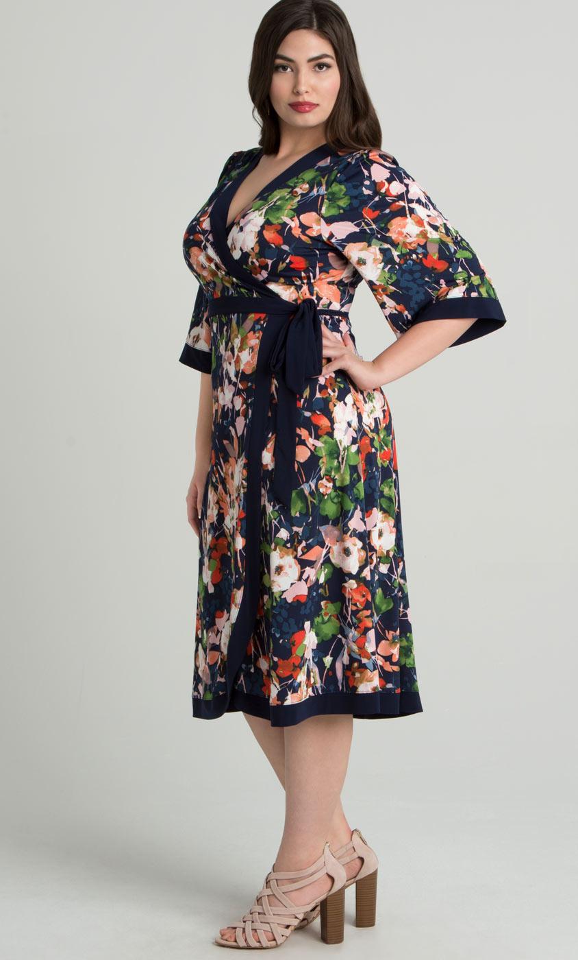 Plus Size Wrap Dresses Curvy Fashion Kiyonna Clothing