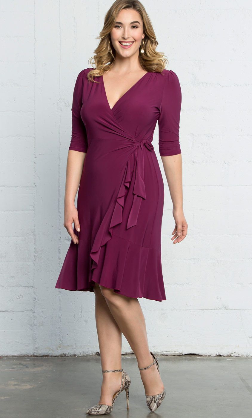 Plus Size Cocktail Dress | Whimsy Wrap Dress