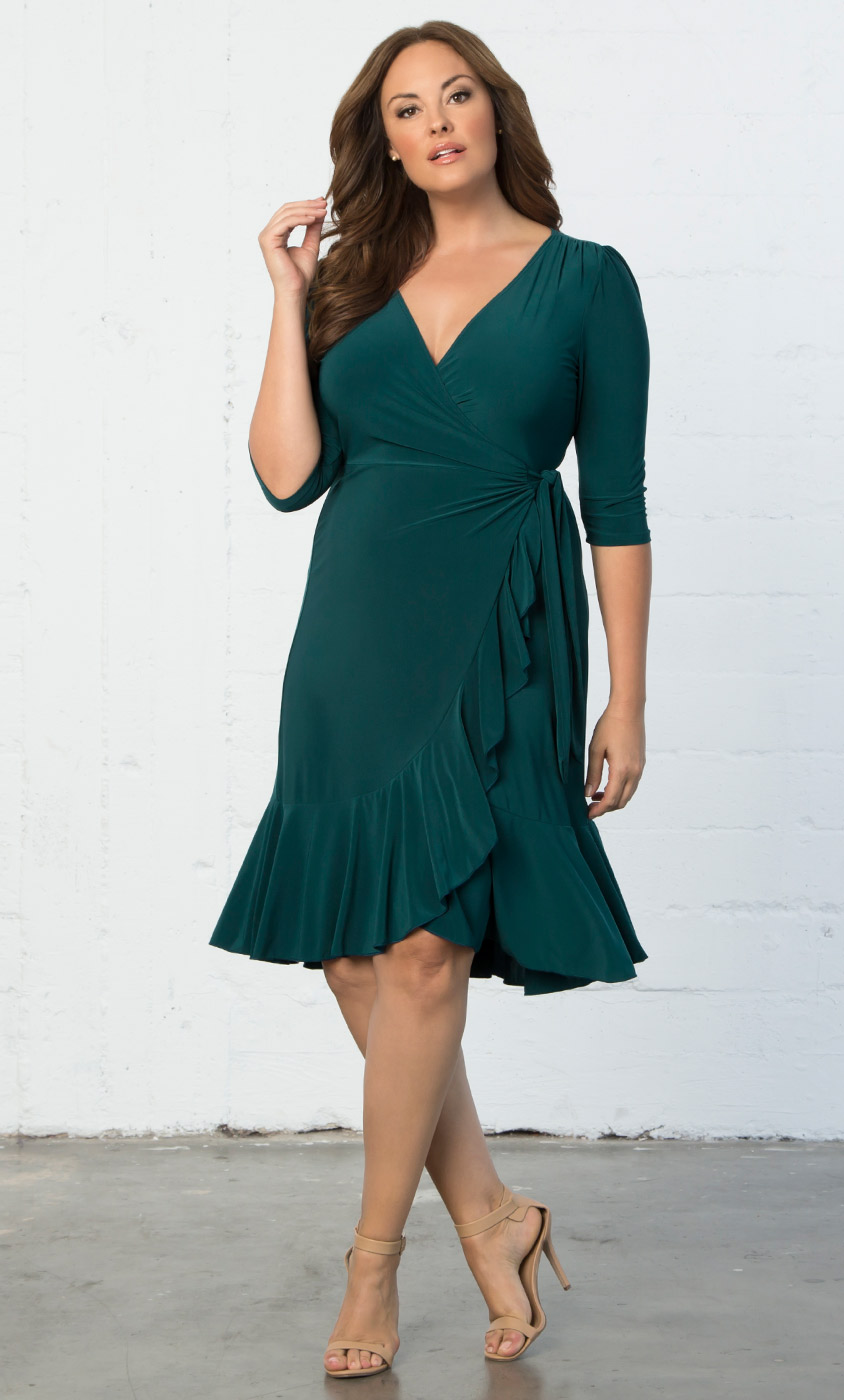 Plus Size Dresses | Whimsy Wrap Dress-Sale
