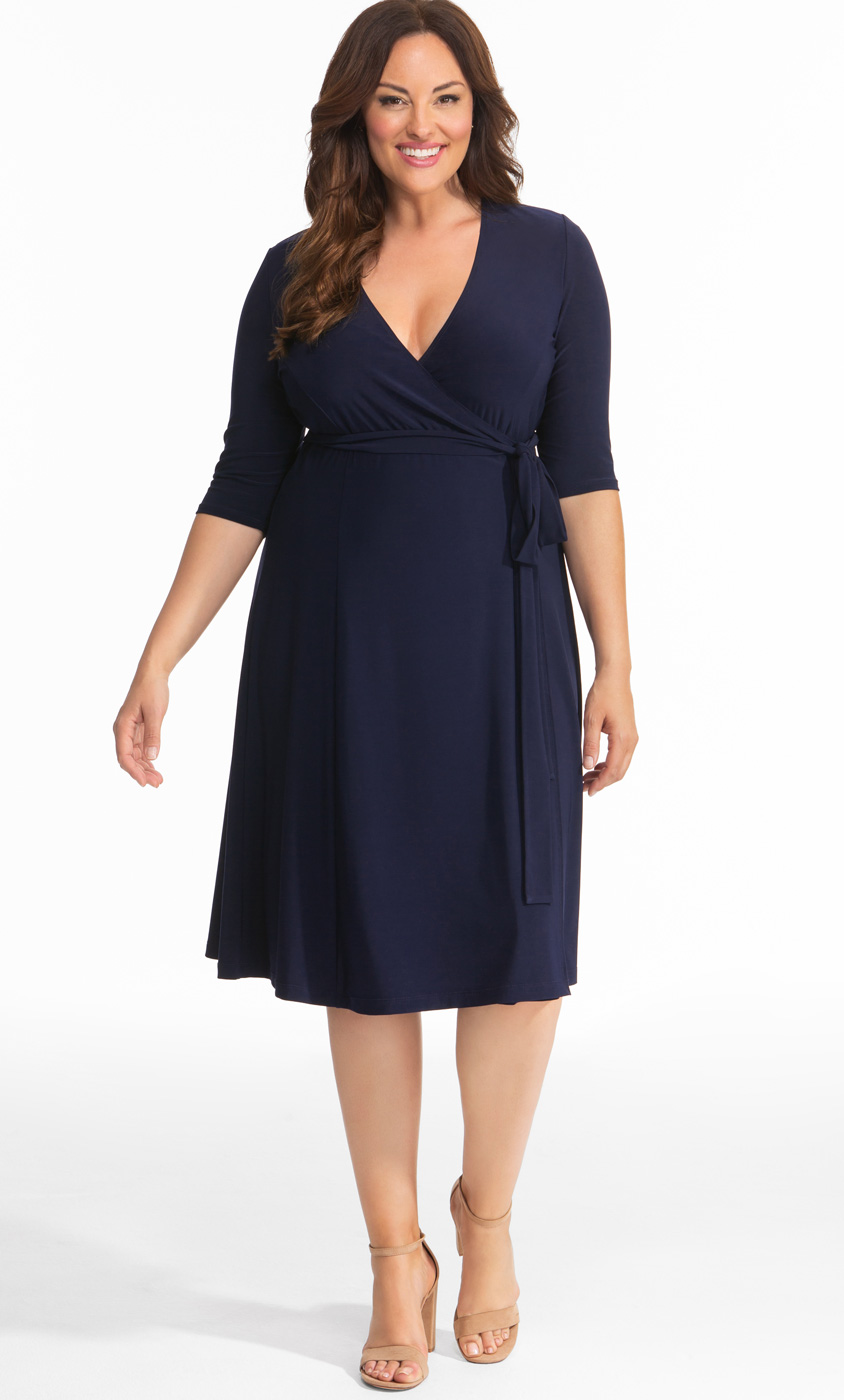 Kiyonna Wrap Dress Plus Size Flattering Wrap Dresses