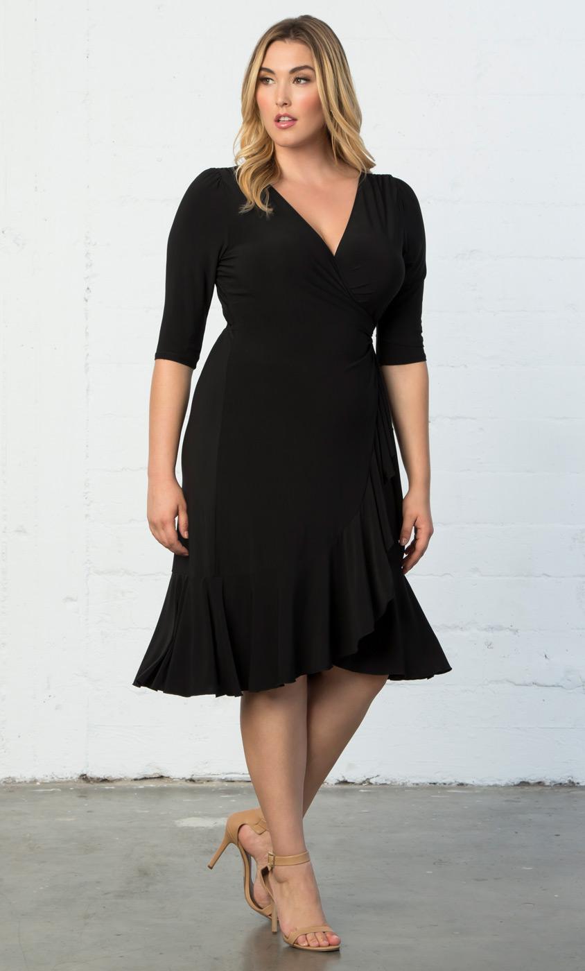 Plus Size Black Wrap
