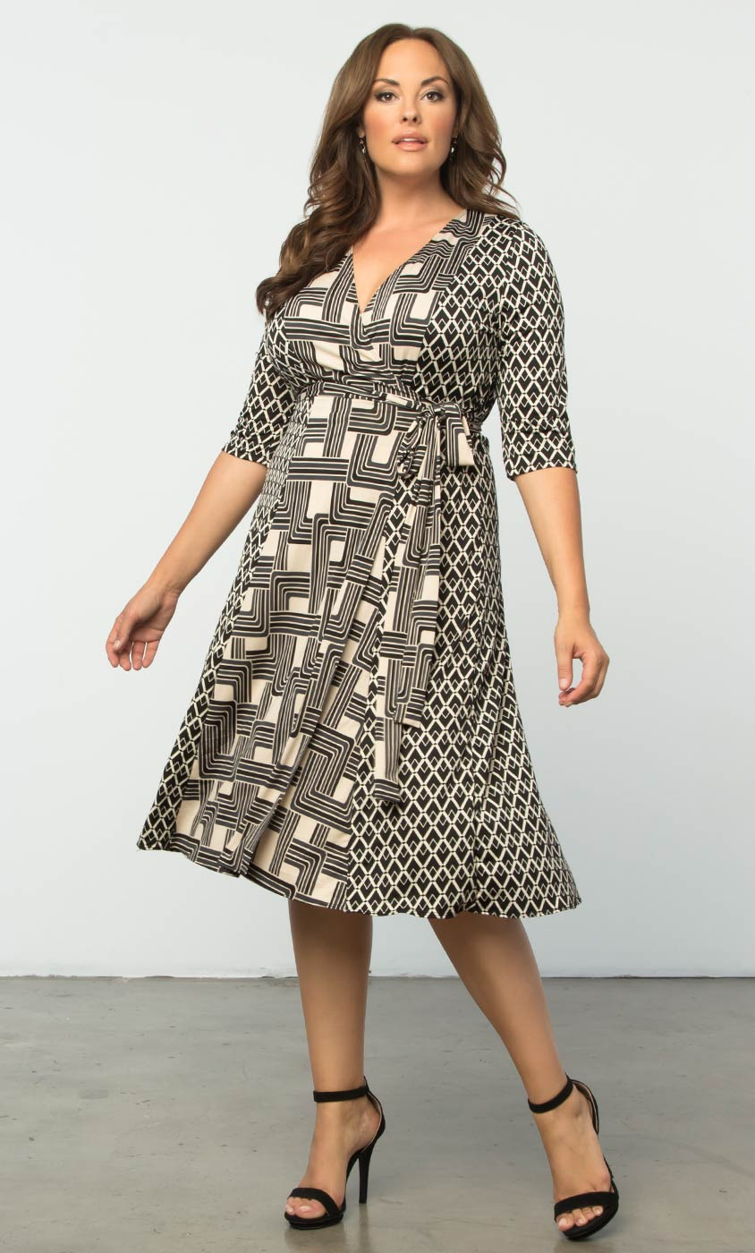 In the Mix Wrap Dress