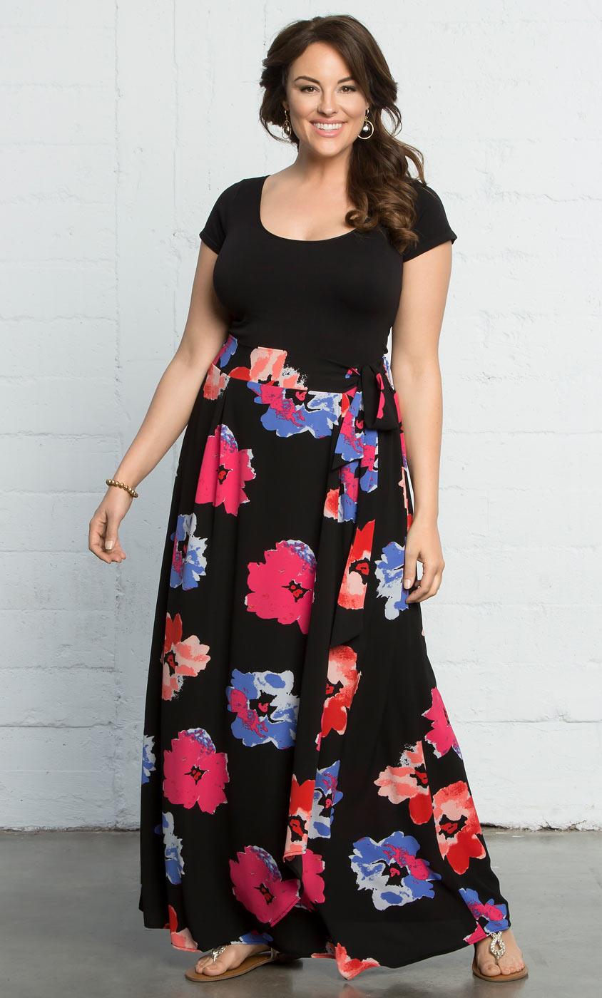 Plus Size Skirts | Celine Chiffon Maxi Skirt