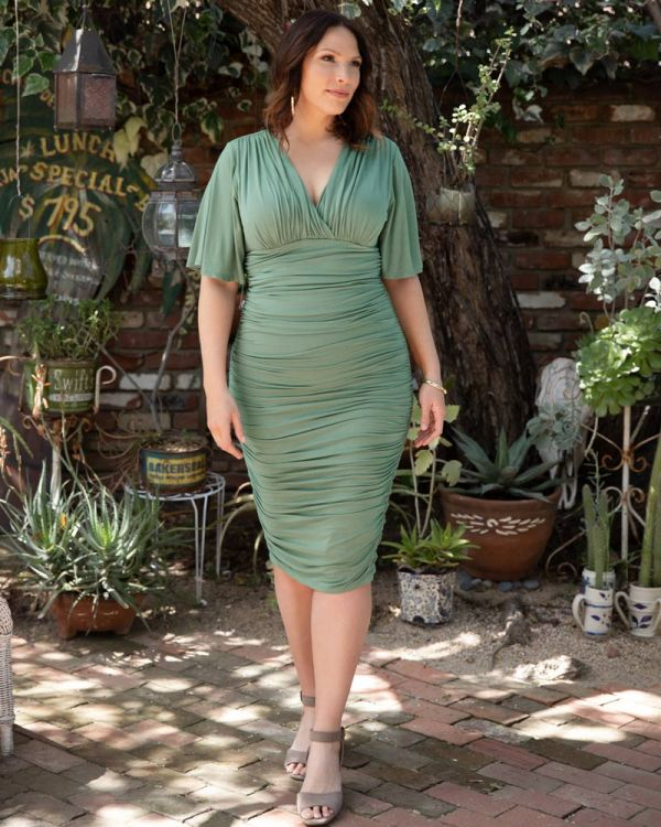 919cbbada79c Rumor Ruched Dress by Kiyonna Plus Size Clothing