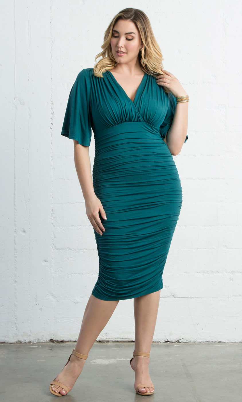 Plus Size Dress | Rumor Ruched Dress by Kiyonna