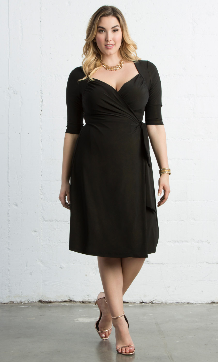 Sweetheart Knit Wrap Dress- Sale!