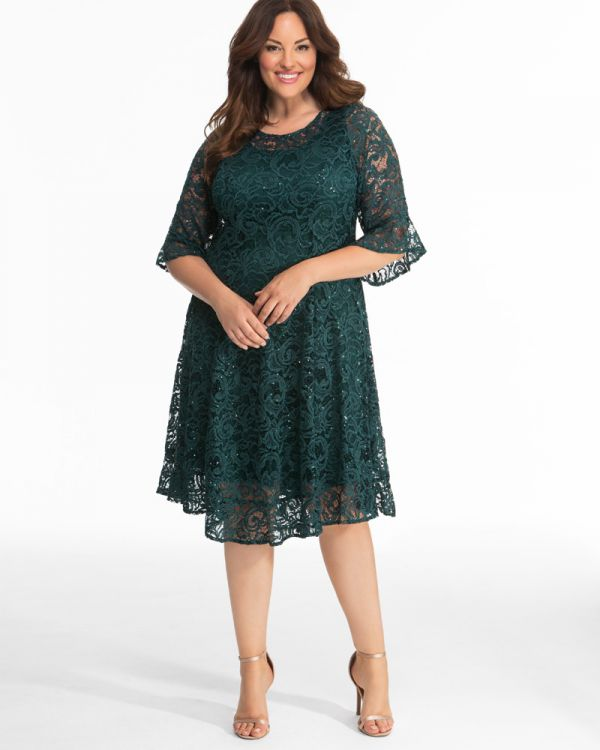 Sofia Sequin Lace Dress - Sale!
