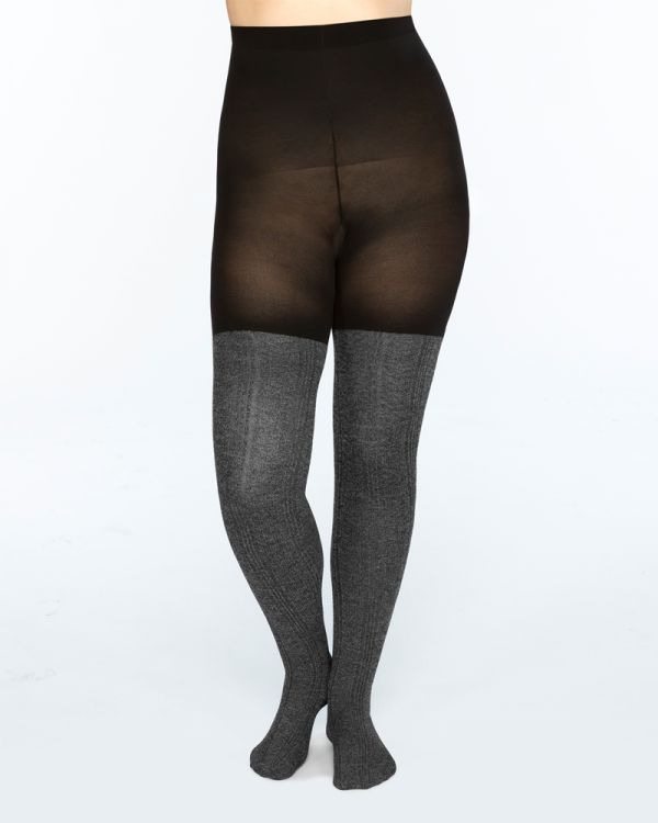 daf17ef3489 Cable Knit Mid-Thigh Shaping Tights by SPANX