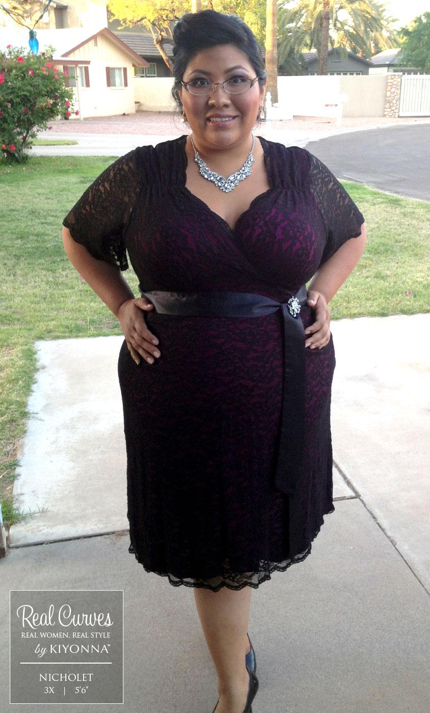 Retro glam lace plus size dresses kiyonna wrap