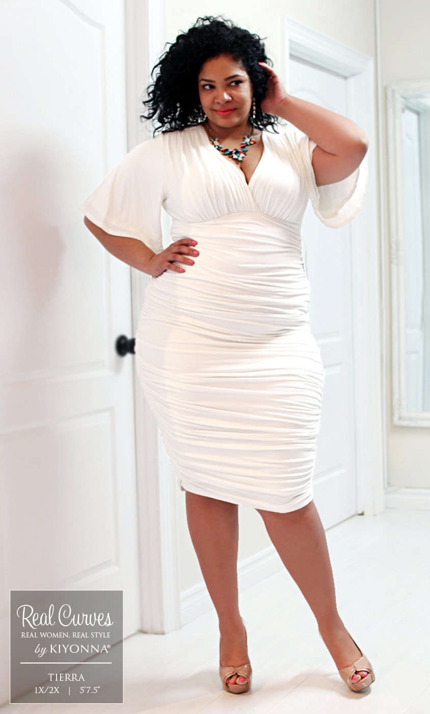 Plus Size Dress  Rumor Ruched Dress by Kiyonna