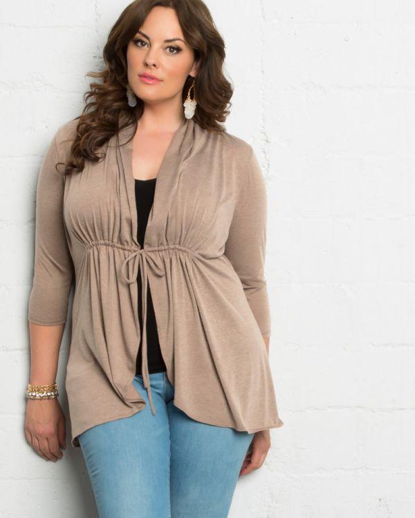 0f59f4c56 Jersey Knit Cardigan | Plus Size Wrap Cardigan | Kiyonna