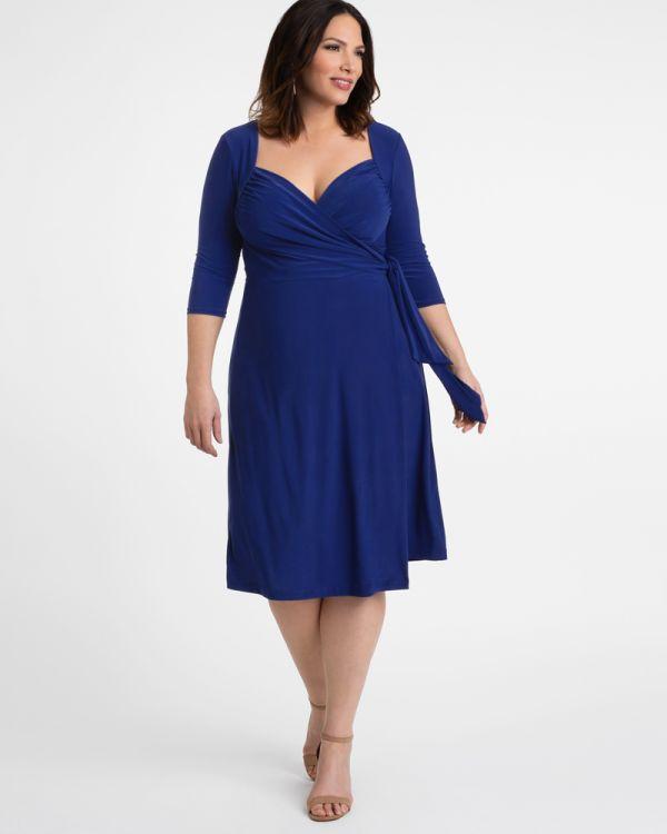 7b5450bf7bc Plus Size Knit Wrap Dress