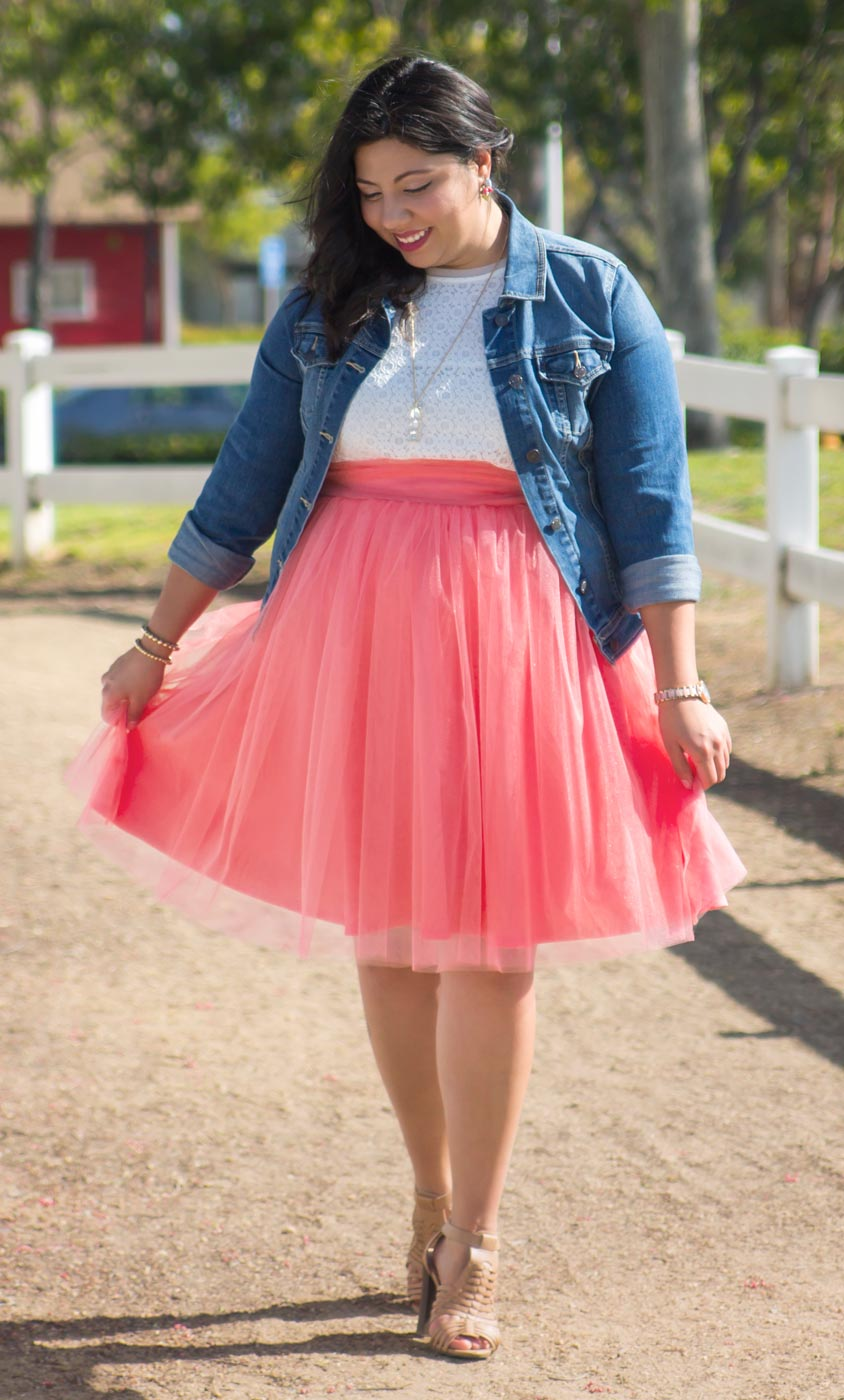 twirling skirt Real Curves for Twirling in Tulle Skirt - Final Sale ...