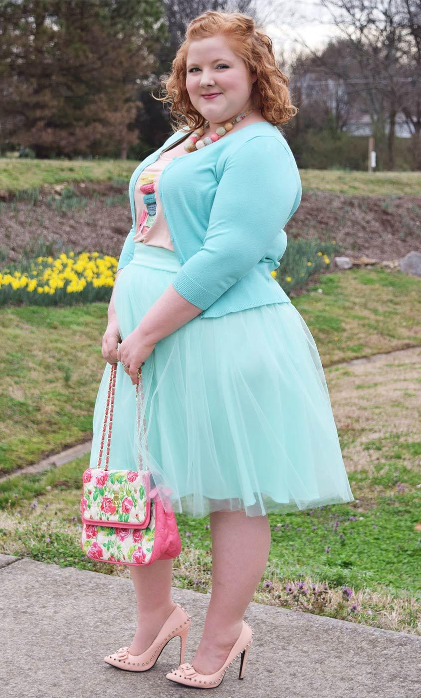plus size pink tulle skirt   kiyonna clothing