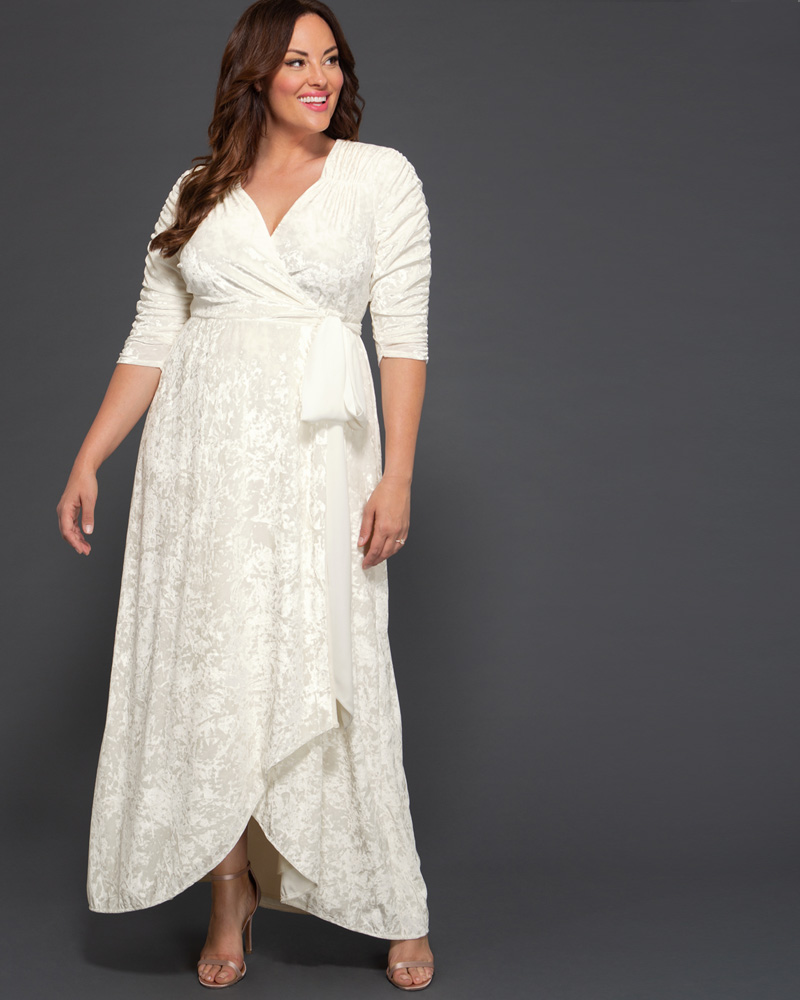 Vintage Style Wedding Dresses, Vintage Inspired Wedding Gowns Kiyonna Womens Plus Size Vie en Velvet Wedding Dress - Sample Sale $99.00 AT vintagedancer.com