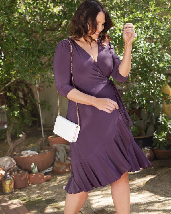 9abcfdcd63b Whimsy Wrap Dress by Kiyonna Plus Size Clothing