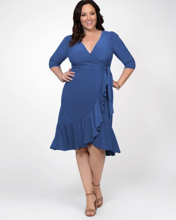 Whimsy Wrap Dress | Plus Size Midi Wrap Dress
