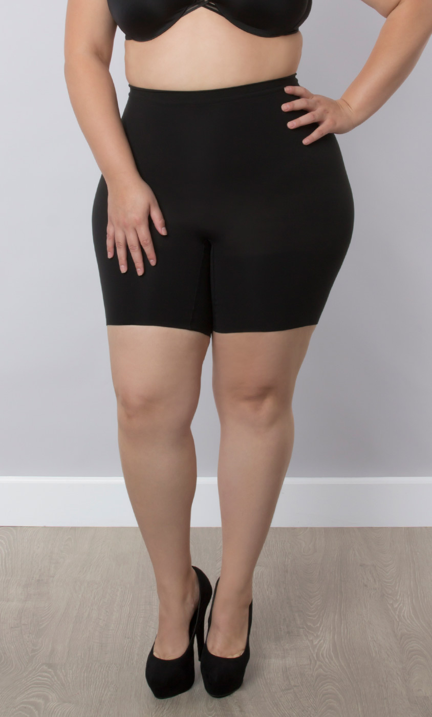 Power short by spanx final sale kiyonna clothing for Plus size spanx for wedding dress