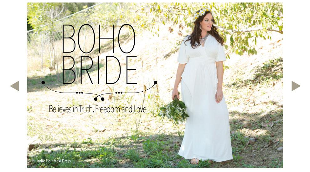 Plus Size Bohemian Bridal Style