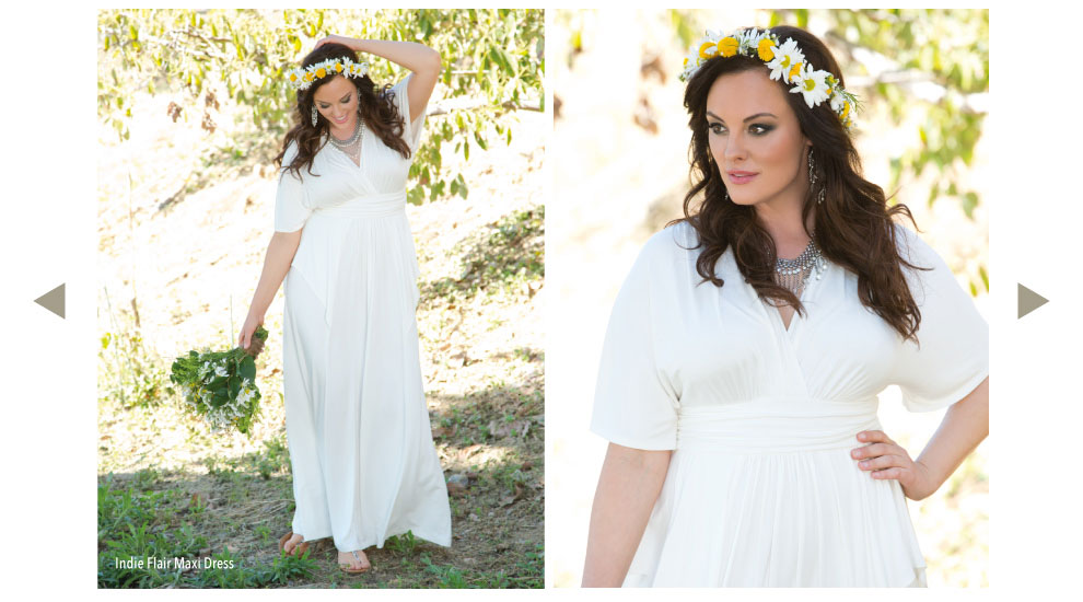 Plus Size White Summer Dress