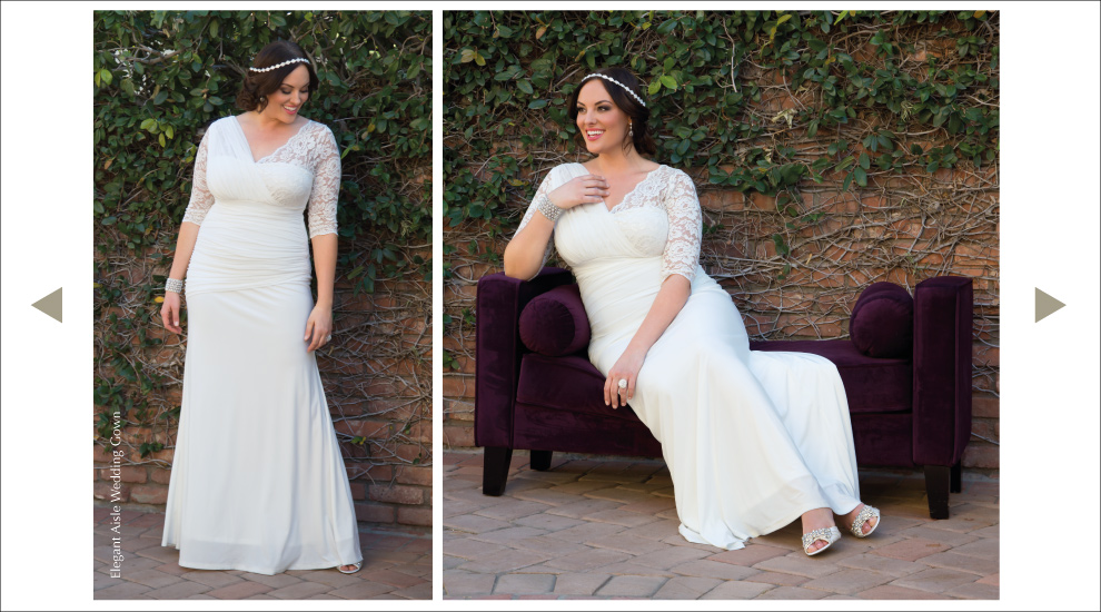 Plus Size Lace Wedding Gown