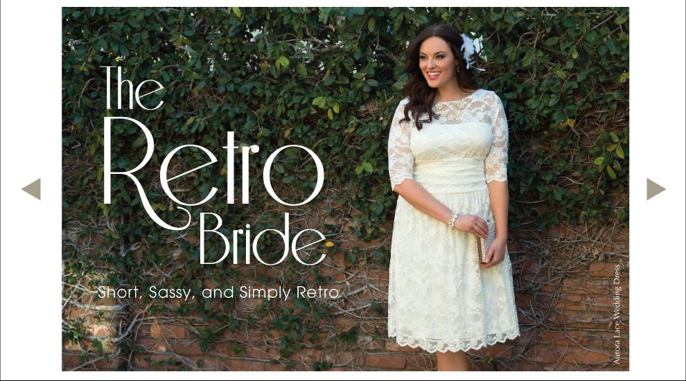 Retro Inspired Plus Size Wedding Dress