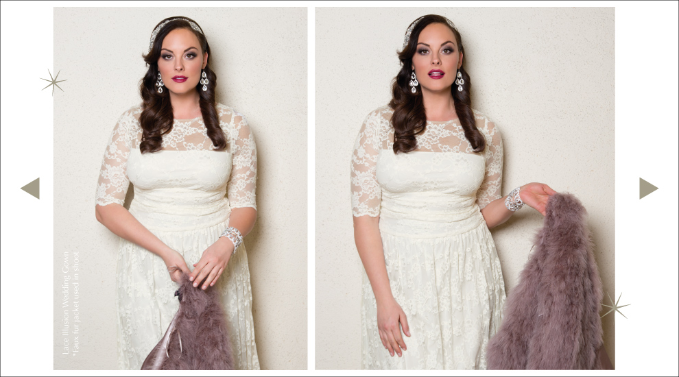 Lace Wedding Gowns for Curvy Ladies