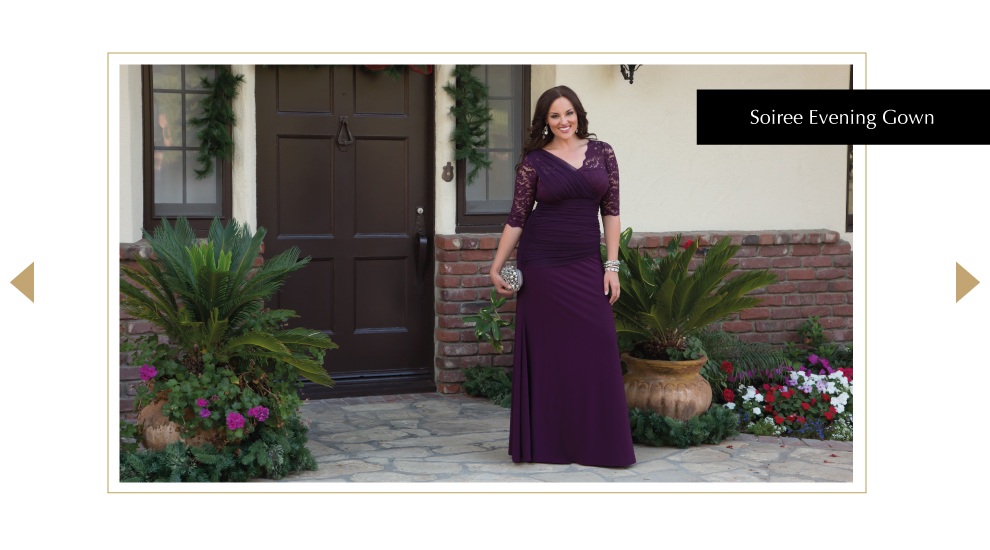 Plus Size Lace Gowns for the Holidays