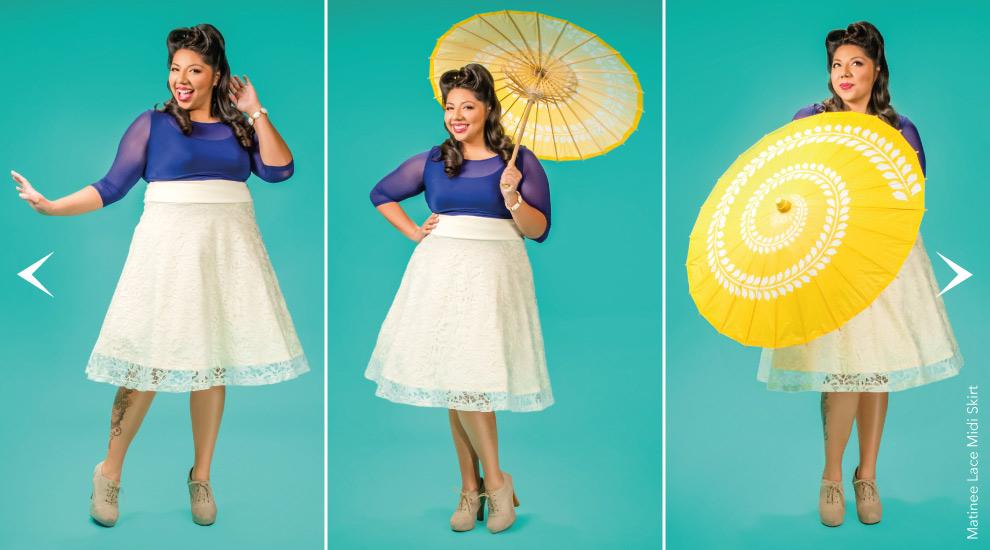 Midi Length Skirts for Curvy women
