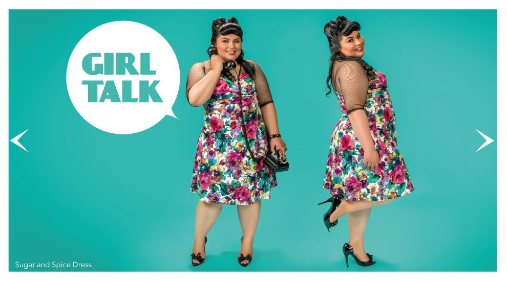 Faux Wrap Dresses for Plus Size Women in floral