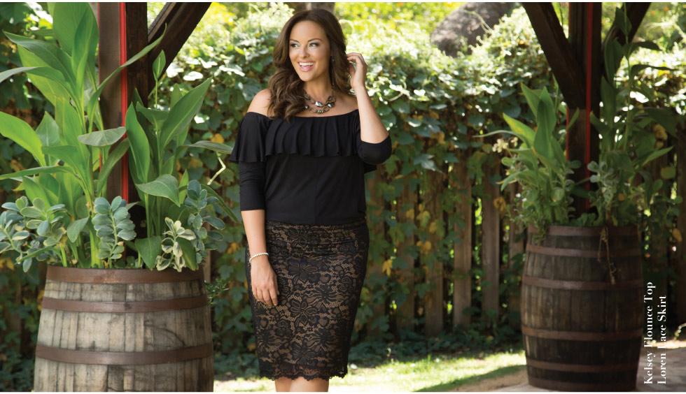 plus size lace skirts